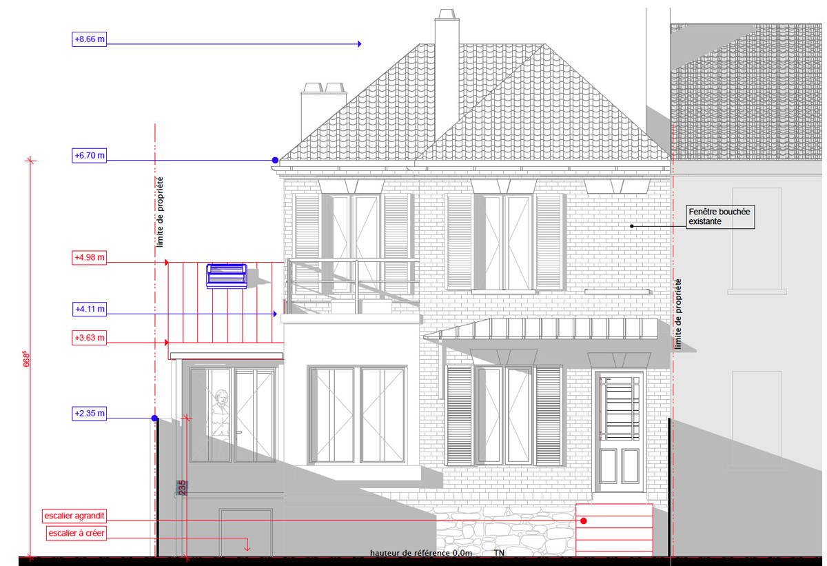 extension maison nord latest extension toit plat enduit projet lille with extension maison nord. Black Bedroom Furniture Sets. Home Design Ideas